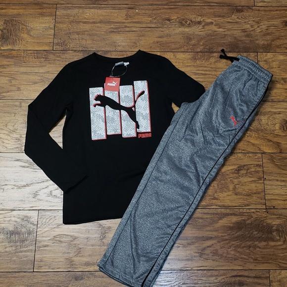 709f10c5f505 NWT 2-Pc Athletic PUMA Outfit Boy s 10 12